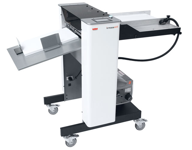 High production, automatic air feed die-score creaser with perforating and scoring capabilities.